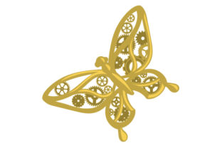 Mechanical Butterfly Craft Design By Creative Fabrica Crafts