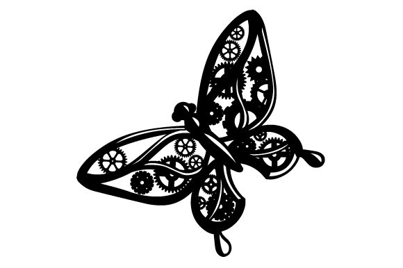 Download Free Mechanical Butterfly Svg Cut File By Creative Fabrica Crafts for Cricut Explore, Silhouette and other cutting machines.
