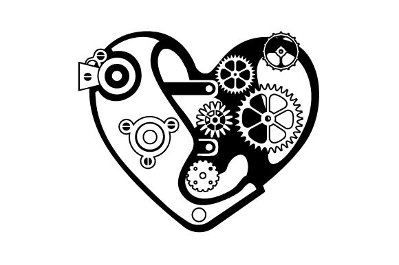 Mechanical Heart Craft Design By Creative Fabrica Crafts Image 2