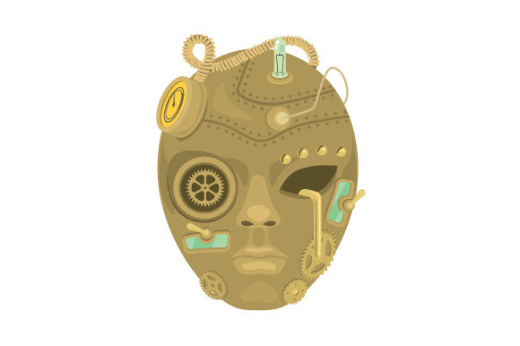 Download Free Mechanical Mask Svg Cut File By Creative Fabrica Crafts for Cricut Explore, Silhouette and other cutting machines.