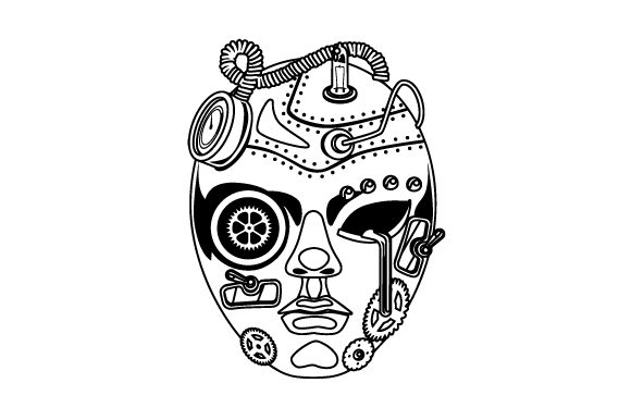Mechanical Mask Svg Cut File By Creative Fabrica Crafts