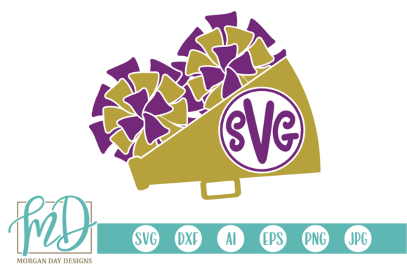 Download Free Megaphone Monogram Graphic By Morgan Day Designs Creative Fabrica for Cricut Explore, Silhouette and other cutting machines.