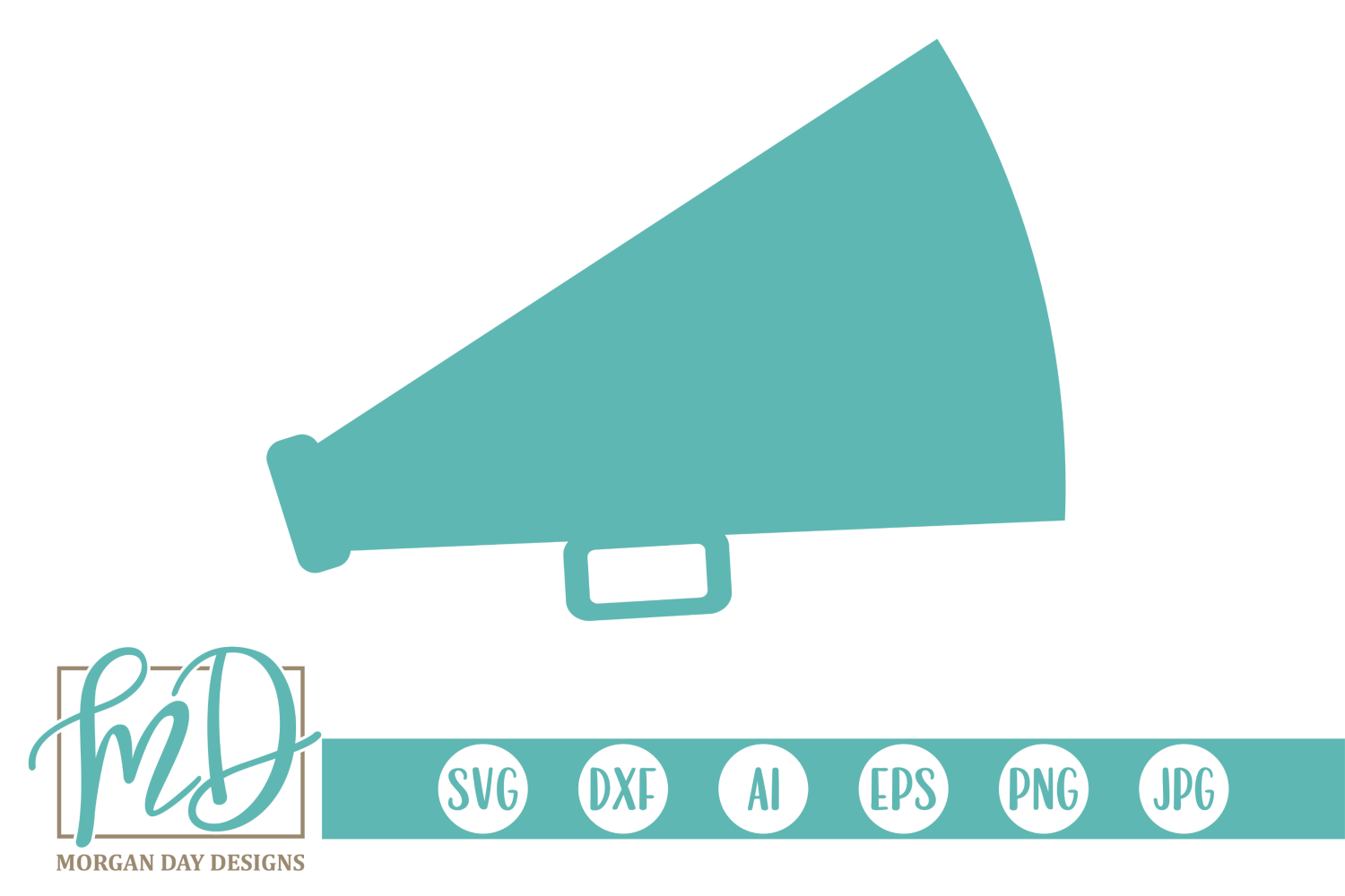 Download Free Megaphone Graphic By Morgan Day Designs Creative Fabrica for Cricut Explore, Silhouette and other cutting machines.