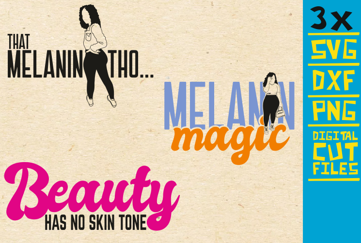 Download Free Melanin Magic Afro Woman Beauty Graphic By Svgyeahyouknowme for Cricut Explore, Silhouette and other cutting machines.