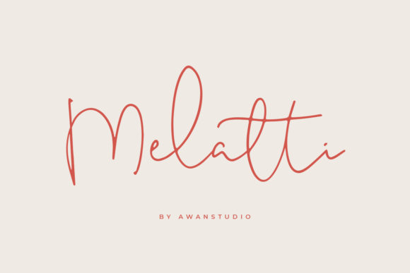Print on Demand: Melatti Script & Handwritten Font By Awanstudio