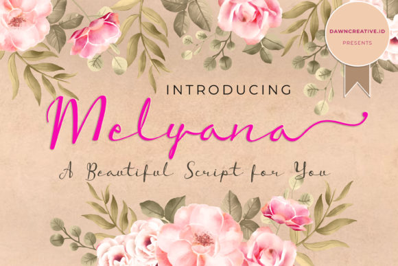 Print on Demand: Melyana Script & Handwritten Font By Dawn Studio