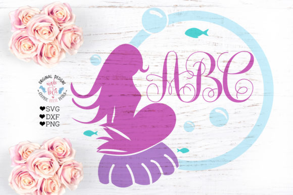 Print on Demand: Mermaid Frame Graphic Crafts By GraphicHouseDesign - Image 1