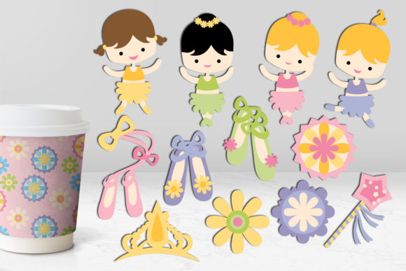 Mermaid and Ballerina Bundle Graphic By Revidevi Image 3