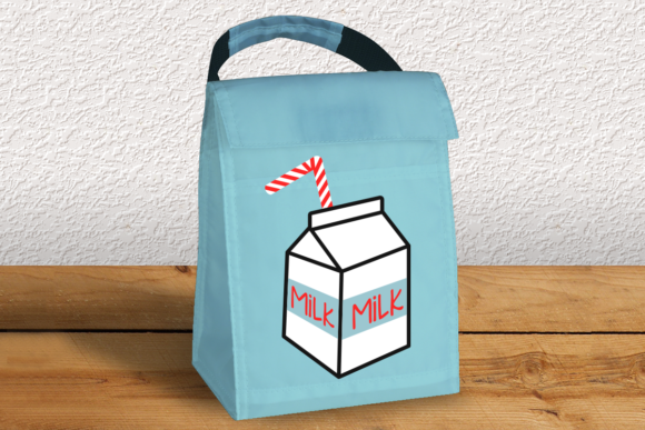 Download Free Milk Carton With Bendy Straw Graphic By Designedbygeeks for Cricut Explore, Silhouette and other cutting machines.