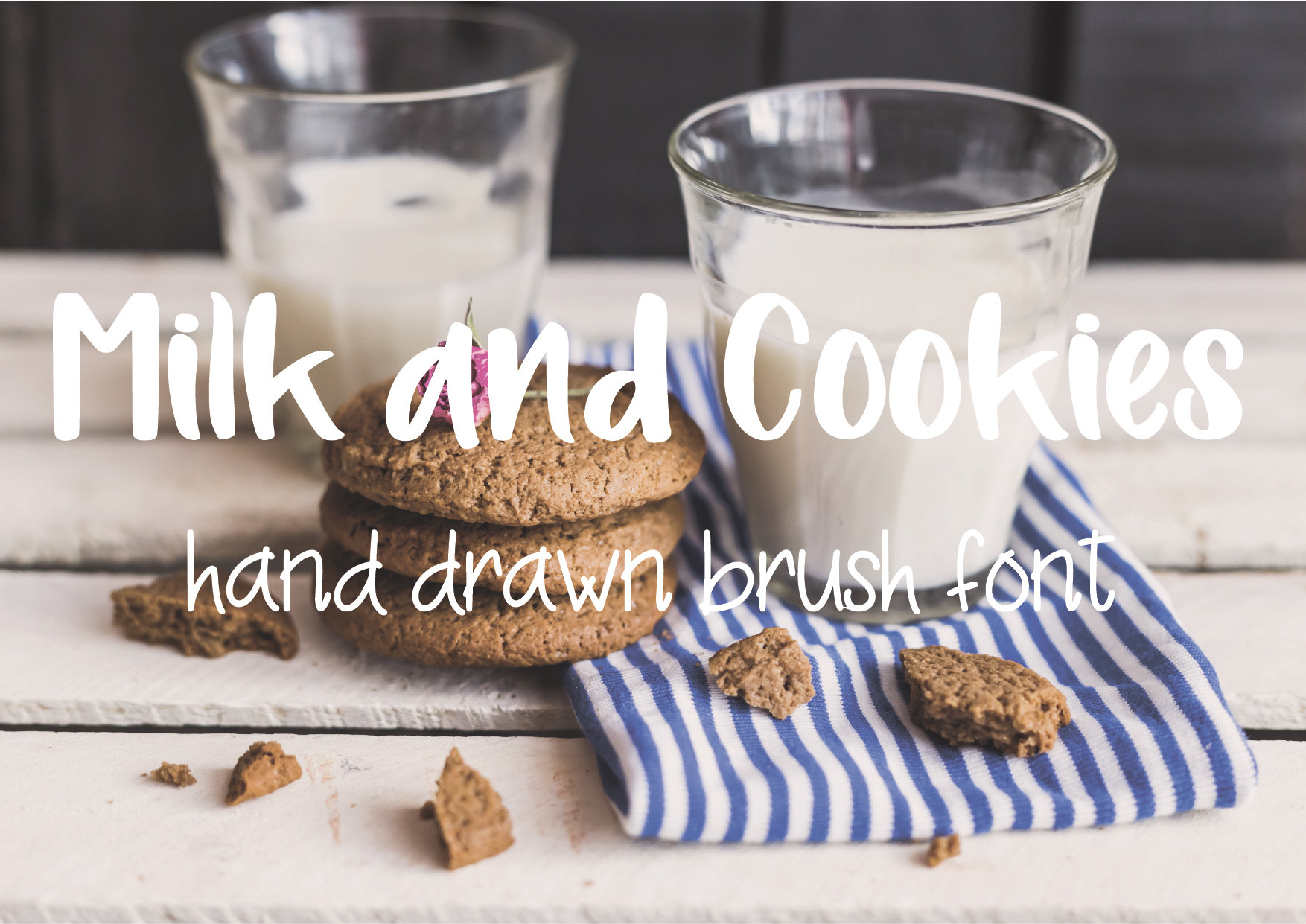 Download Free Milk And Cookies Font By Sentimental Postman Creative Fabrica for Cricut Explore, Silhouette and other cutting machines.
