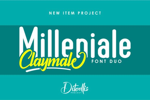 Print on Demand: Milleniale Duo Sans Serif Font By Ditoollis Project