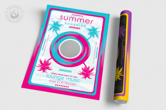 Minimal Summer Flyer Template V3 Graphic By ThatsDesignStore Image 3