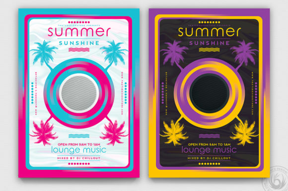 Minimal Summer Flyer Template V3 Graphic By ThatsDesignStore Image 1