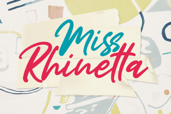 Print on Demand: Miss Rhinetta Script & Handwritten Font By Weape Design