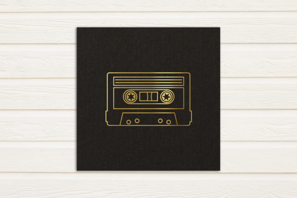 Mix Tape Single Line Drawing Graphic Crafts By DesignedByGeeks
