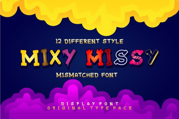 Print on Demand: Mixy Missy Display Font By putracetol