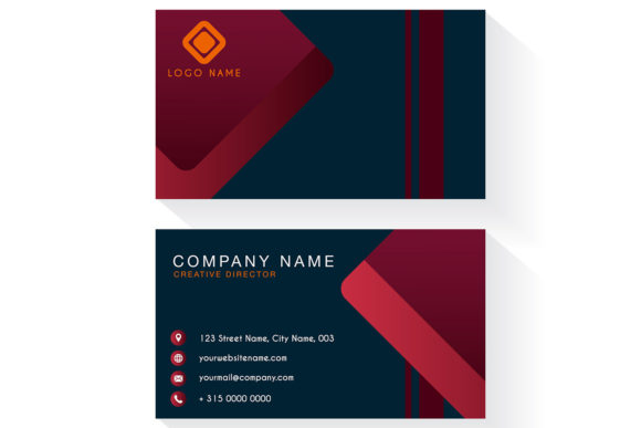 Download Free Modern Business Card Template Graphic By Dwikrisdiantoro9 SVG Cut Files