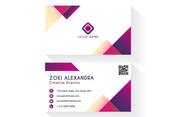 Download Free Modern Business Card Template Graphic By Dwikrisdiantoro9 for Cricut Explore, Silhouette and other cutting machines.