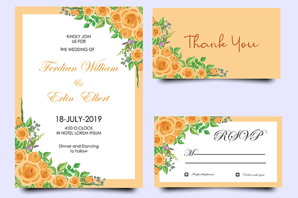 Download Free Modern Wedding Invitation Templates Graphic By Bint Studio for Cricut Explore, Silhouette and other cutting machines.