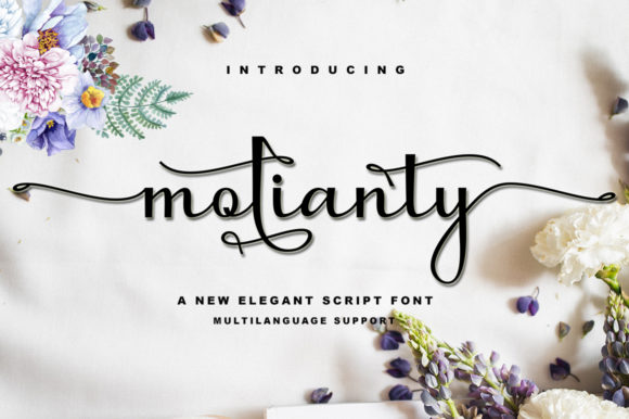 Print on Demand: Molianty Script Script & Handwritten Font By akifatype - Image 1