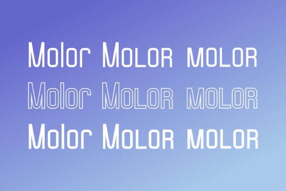 Molor Font By Sons Of Baidlowi Image 3