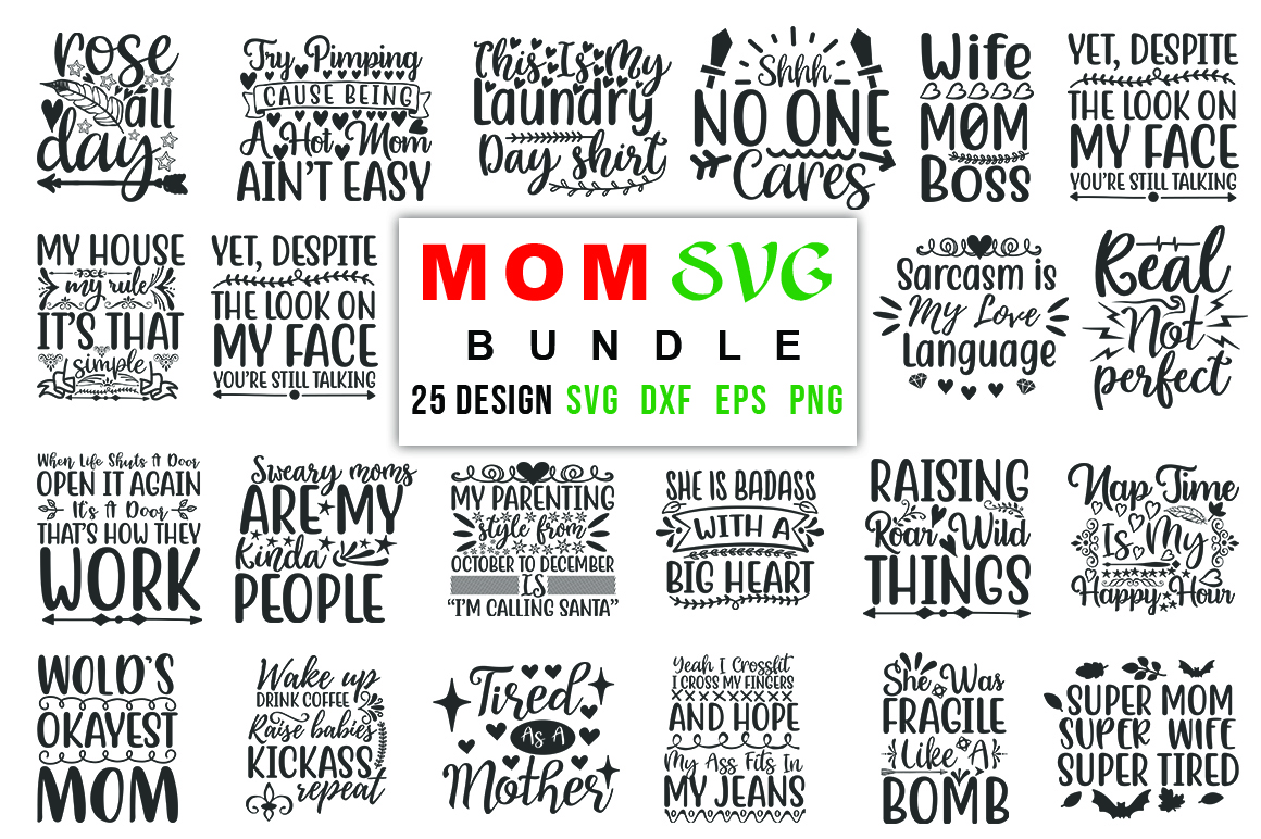 Mom Bundle Vol 02 Graphic By Red Box Creative Fabrica