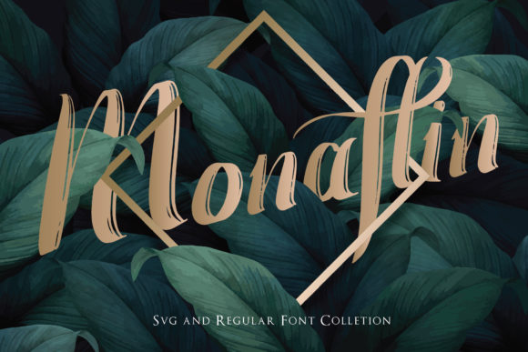 Print on Demand: Monaflin Display Font By eSSeGraphic - Image 3