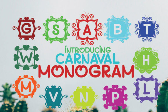 Print on Demand: Monogram Carnaval Display Font By jehansyah251 - Image 2