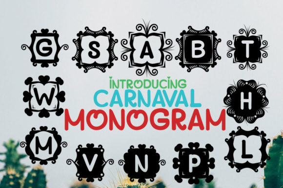 Print on Demand: Monogram Carnaval Display Font By jehansyah251 - Image 3