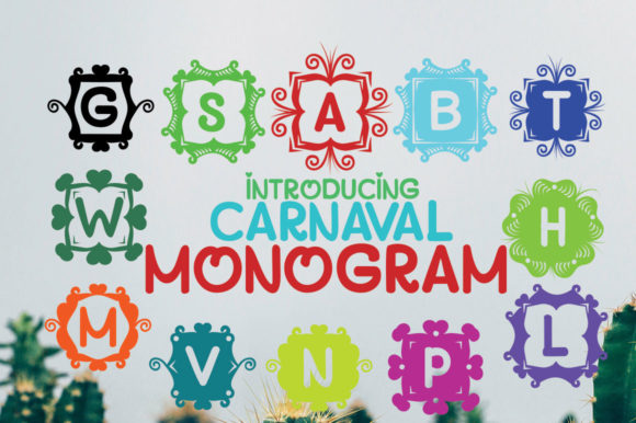 Print on Demand: Monogram Carnaval Display Font By jehansyah251