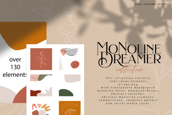 Monoline Dreamer Graphic Illustrations By BilberryCreate - Image 1