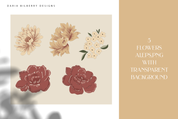 Morris Grace Collection Graphic Illustrations By BilberryCreate - Image 2