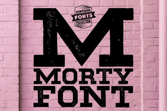 Print on Demand: Morty Slab Serif Schriftarten von grin3