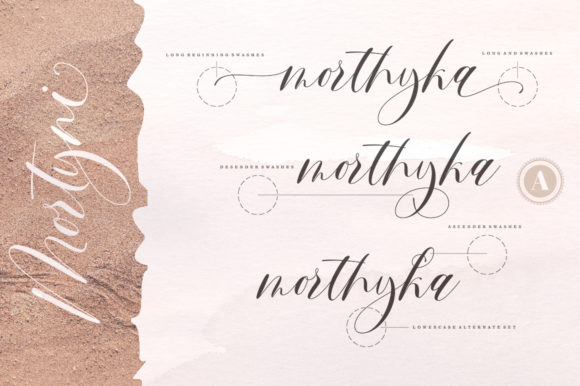 Print on Demand: Mortyni Script & Handwritten Font By Aqeela Studio - Image 6