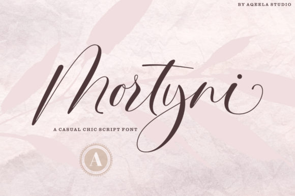 Print on Demand: Mortyni Script & Handwritten Font By Aqeela Studio - Image 10