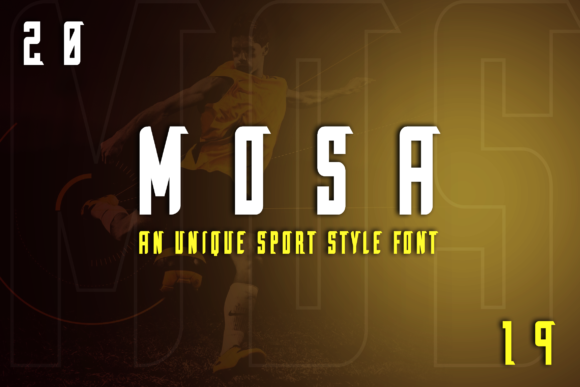 Print on Demand: Mosa Display Font By ovoz.graphics