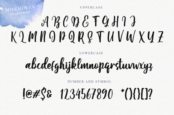 Print on Demand: Moshinta Script & Handwritten Font By Typefar - Image 4