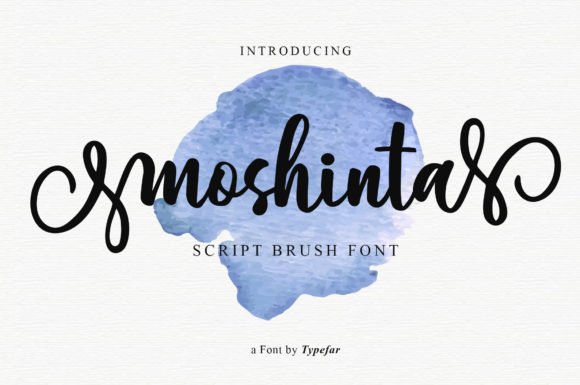 Print on Demand: Moshinta Script & Handwritten Font By Typefar - Image 8