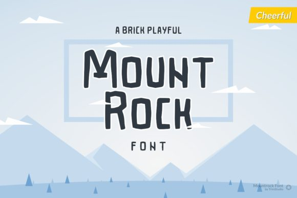 Print on Demand: Mountrock Display Font By Trim Studio