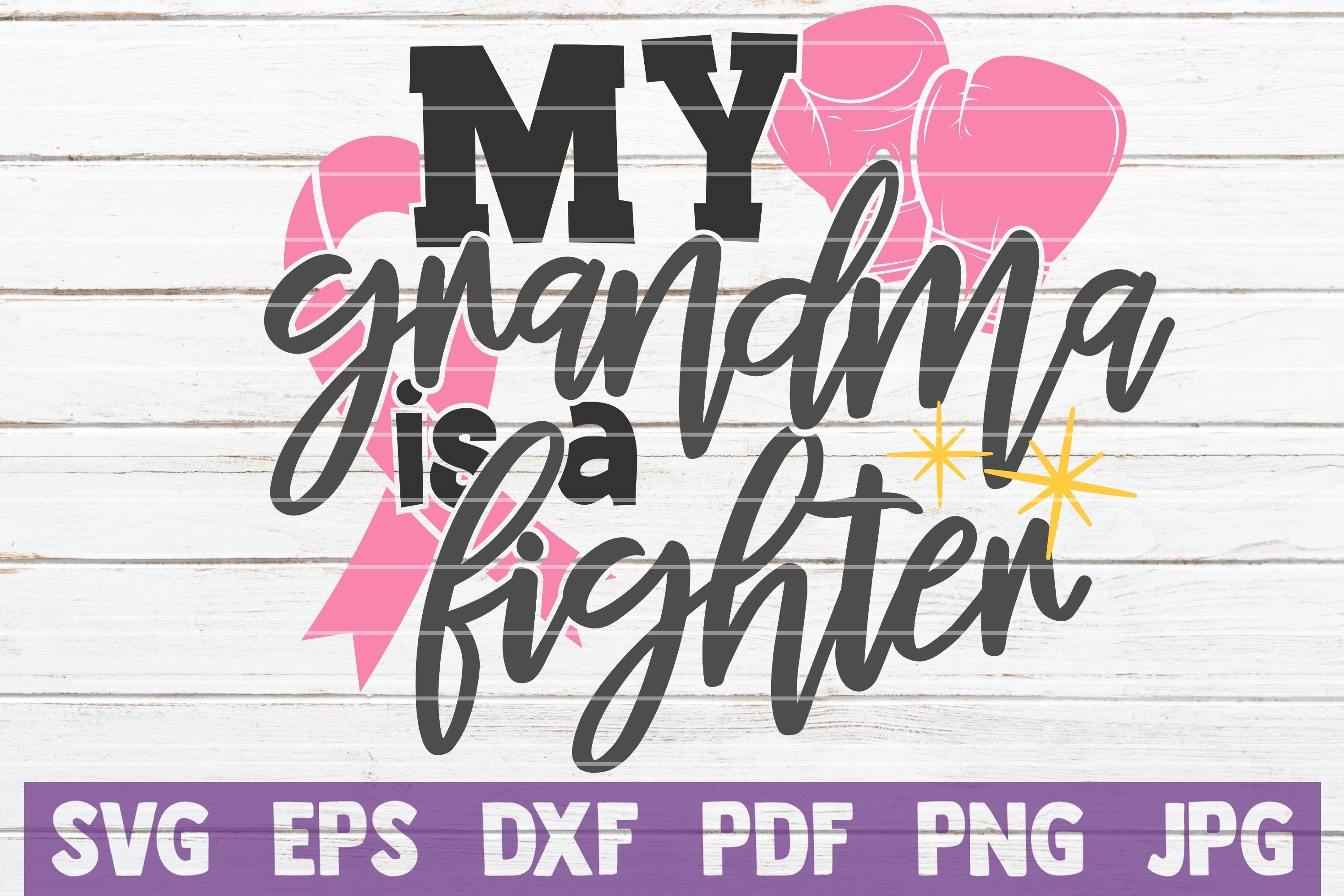 Download Free My Grandma Is A Fighter Svg Cut File Graphic By for Cricut Explore, Silhouette and other cutting machines.