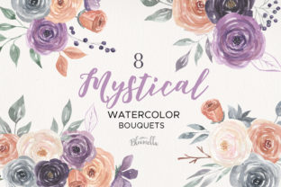Mystical Watercolor 8 Clipart Bouquets Graphic By Bloomella