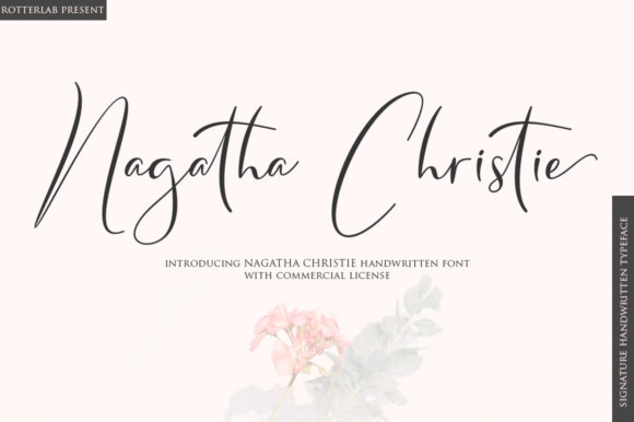 Print on Demand: Nagatha Christie Script & Handwritten Font By rotterlabstudio - Image 1