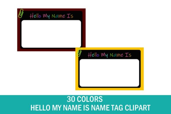 Name Tag Clipart School