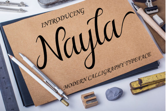 Print on Demand: Nayla Script & Handwritten Font By Ogex86
