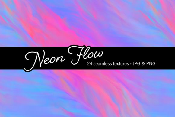 Print on Demand: Neon Flow Graphic Textures By JulieCampbellDesigns