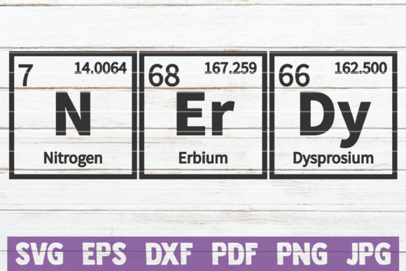 Nerdy Periodic Table SVG Cut File Graphic Graphic Templates By MintyMarshmallows