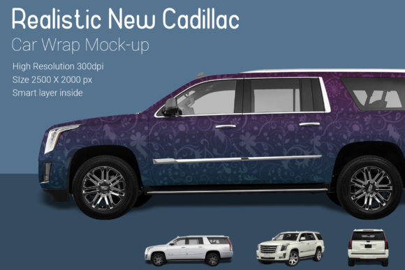 New Cadillac Car Wrap Mock-up Graphic Product Mockups By gumacreative - Image 2