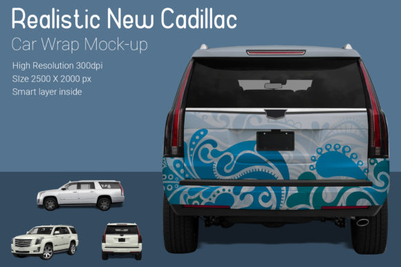 New Cadillac Car Wrap Mock-up Graphic Product Mockups By gumacreative - Image 3
