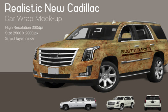 New Cadillac Car Wrap Mock-up Graphic Product Mockups By gumacreative - Image 1