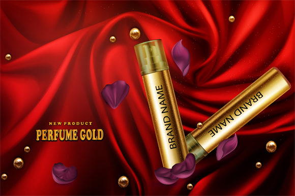 Print on Demand: New Perfume Gold4 Graphic Product Mockups By imammuslim835